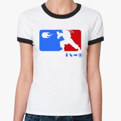 Женская футболка Ringer-T Funny Mortal Kombat