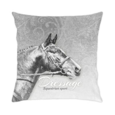 Подушка Конный спорт, лошади. Dressage