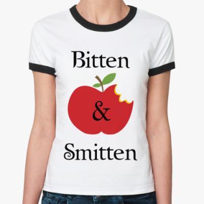 Женская футболка Ringer-T Bitten and smitten