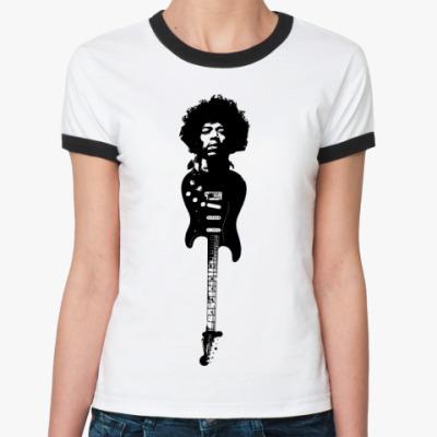 Женская футболка Ringer-T Hendrix  Ж(бел/чёрн)