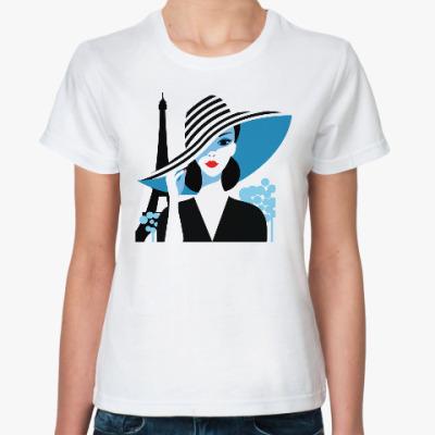 Классическая футболка Француженка, фэшн иллюстрация