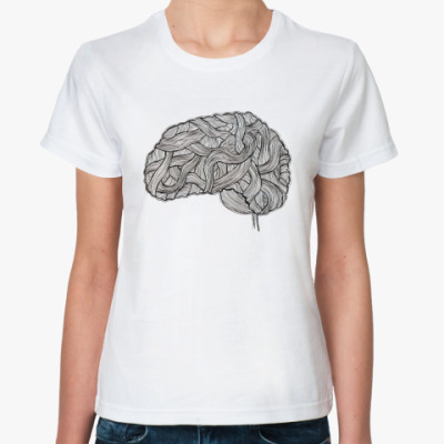 Классическая футболка «Мозг»