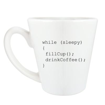 Чашка Латте Для программиста