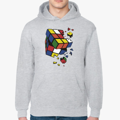 Толстовка худи Сломанный кубик Рубика