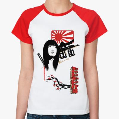 Женская футболка реглан   Samurai