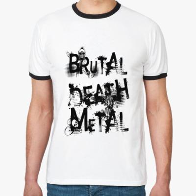 Футболка Ringer-T Brutal Death Metal