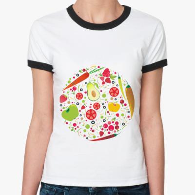 Женская футболка Ringer-T Овощной микс