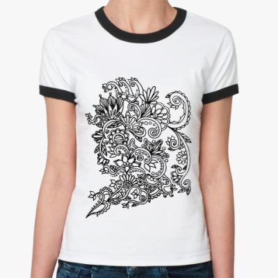 Женская футболка Ringer-T Вдохновение
