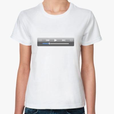 Классическая футболка Играй свою музыку! (женская)
