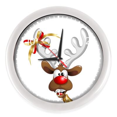 Настенные часы Часы, белые (белые цифры)