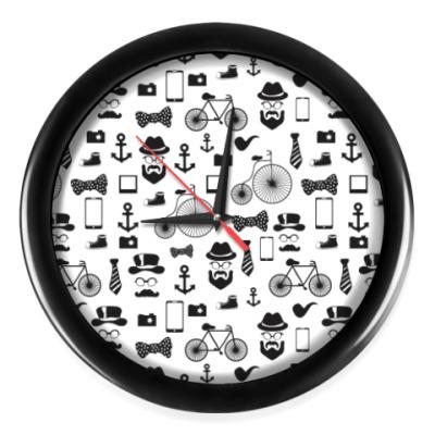 Настенные часы Хипстерский набор