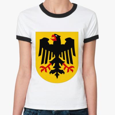 Женская футболка Ringer-T Deutschland