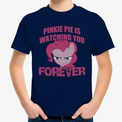 Детская футболка Пинки Пай наблюдает за тобой