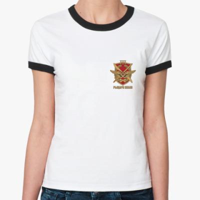 Женская футболка Ringer-T  Рыцари небес 3Ж