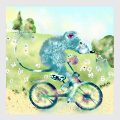 Постер Велосипедная прогулка