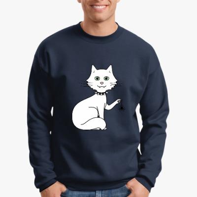 Свитшот Кот с паучком