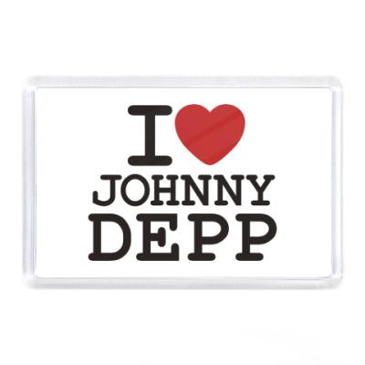 Магнит  I love Johnny Depp