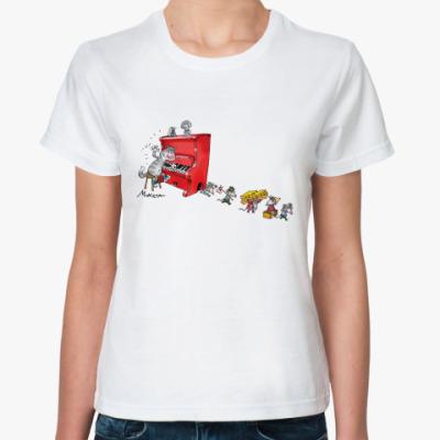 Классическая футболка ПИАНИСТ