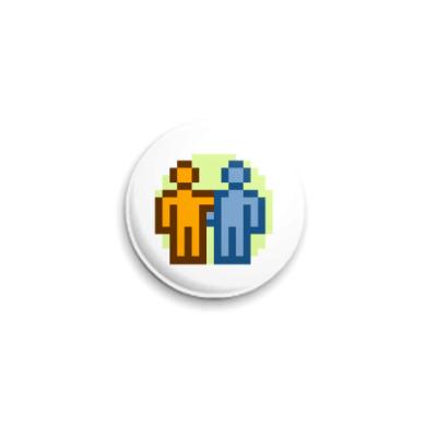 Значок 25мм  ICQ Статус #8