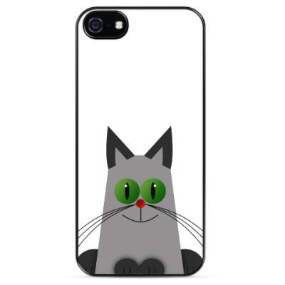 Чехол для iPhone Зеленоглазый котик