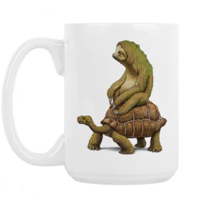 Кружка Ленивец на черепахе