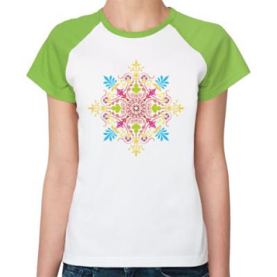 Женская футболка реглан Узор