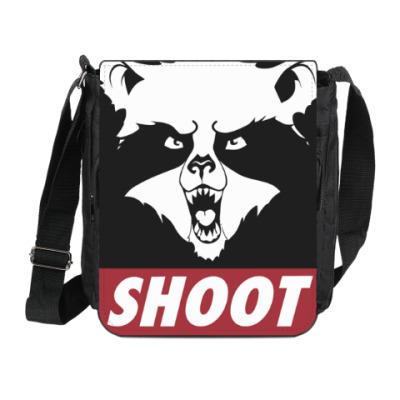 Сумка на плечо (мини-планшет) Raccoon Shoot