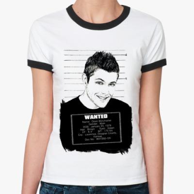 Женская футболка Ringer-T Dean Wanted  Ж ()