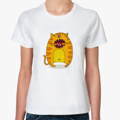 Классическая футболка  'Батон с колбасой'