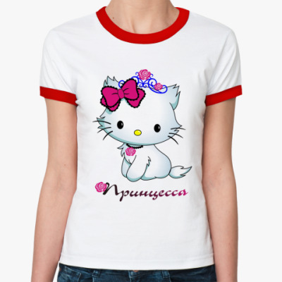 Женская футболка Ringer-T принцесса