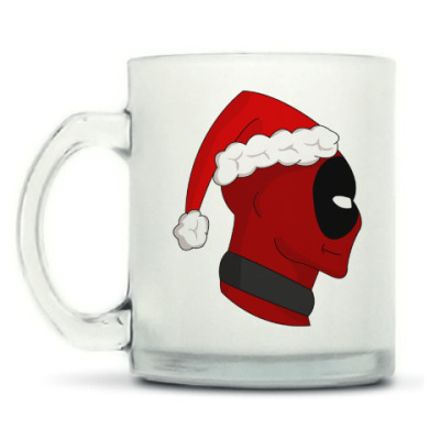 Кружка матовая Christmas with Deadpool