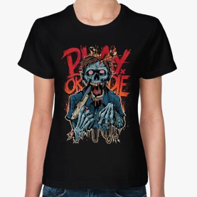 Женская футболка Зомби Геймер