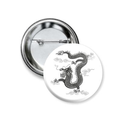 Значок 37мм Китайский дракон