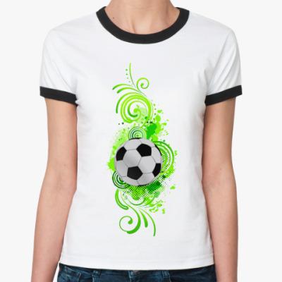 Женская футболка Ringer-T Футбольный мяч