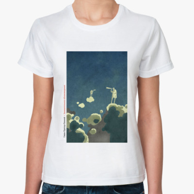 Классическая футболка  Clouds (жен)