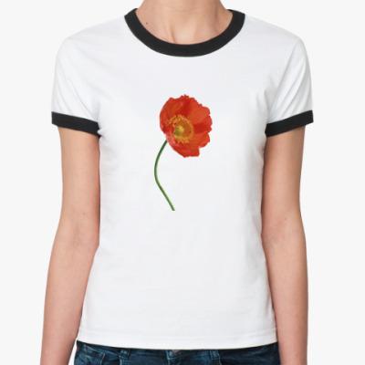 Женская футболка Ringer-T   Мак