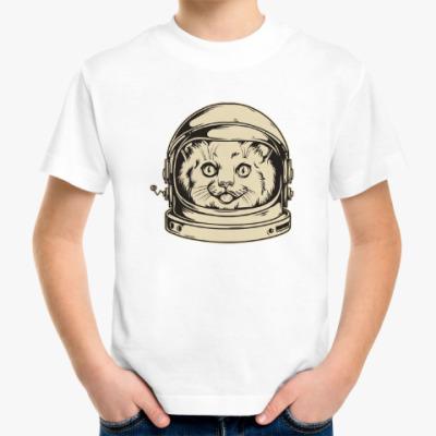 Детская футболка Космос. Ракета. Котэ. Звезды.
