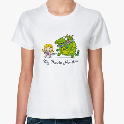 Классическая футболка 'My Private Monsta'