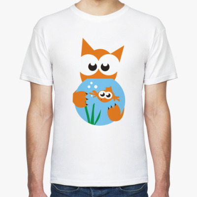 Футболка Кот и рыбка
