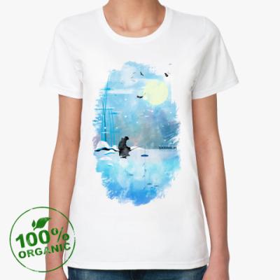 Женская футболка из органик-хлопка Сахалин,Sakhalin