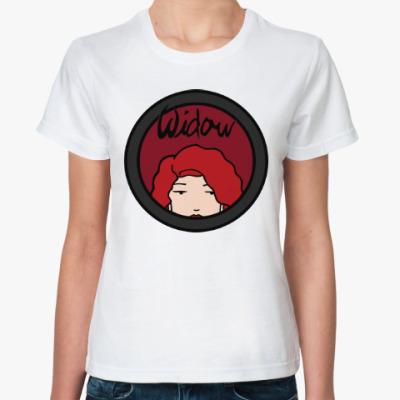 Классическая футболка Черная вдова