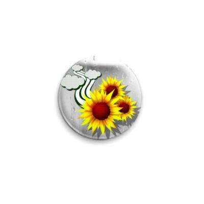 Значок 25мм flowers
