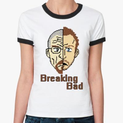 Женская футболка Ringer-T Walter White & Jesse Pinkman