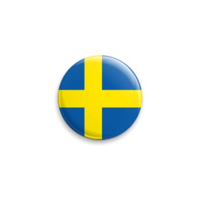 Значок 25мм  Швеция