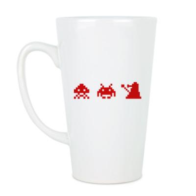 Чашка Латте Dalek & Space Invaders
