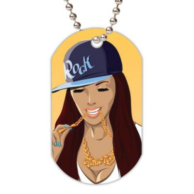 Жетон dog-tag 'Rap Girl'