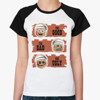 Женская футболка реглан Лего - хороший, плохой, злой
