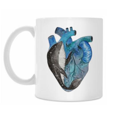 Кружка Сердце с китом