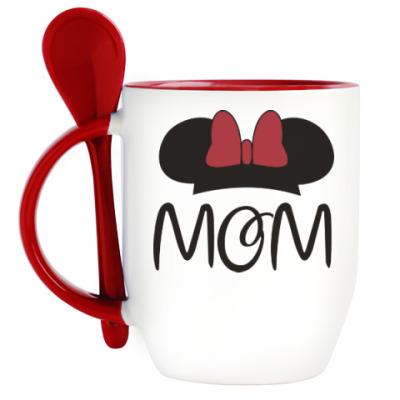 Кружка с ложкой Mom