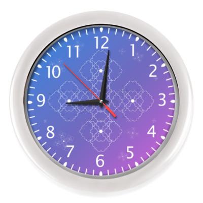 Настенные часы Концепт королевского креста в градиенте